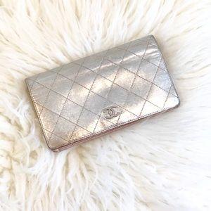 Chanel Sliver Bi-Fold Wallet